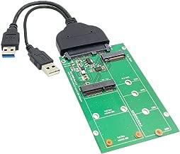 Cablecc USB 3.0 to SATA 22pin 2.5 Hard Disk to 2 in 1 Combo Mini PCI- E 2 Lane M.2 NGFF & mSATA SSD Adapter Converter