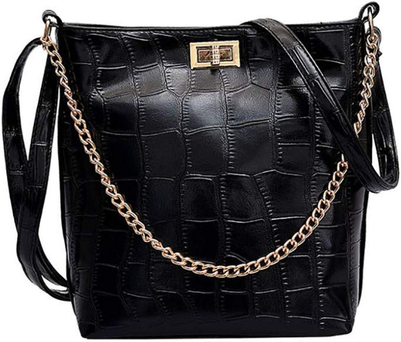 HKDUC Umhängetasche Für Für Für Frauen Mode Vintage Solide Leder Messenger Bags Mädchen Damen Crossbody Taschen Eimer Lässige Handtaschen B07Q57TYTD  Einzigartig 71c139