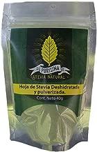 Hojas de Stevia Pulverizada Natural 100% Pura Ecologica y Organica Seleccionada de Calidad Premium 40 g.