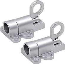 Automatische Sluitgrendel Bout Zilver, Aluminium Automatische Lente Klink, Veiligheid Pull Ring Lente Deurslot met Bevesti...