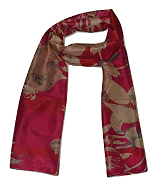 Handcrafted 100% Pure Mulberry Silk, Multicolor Prints, Scarf/Stole.