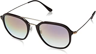 RAY-BAN RB4273 Square Sunglasses, Chocolate/Violet Gradient, 52 mm