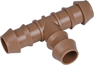 "Arfun 20-Pack Drip Irrigation Barbed Tee Fittings, Fits of 1/2"", 17mm .600"" ID Drip Tubing"