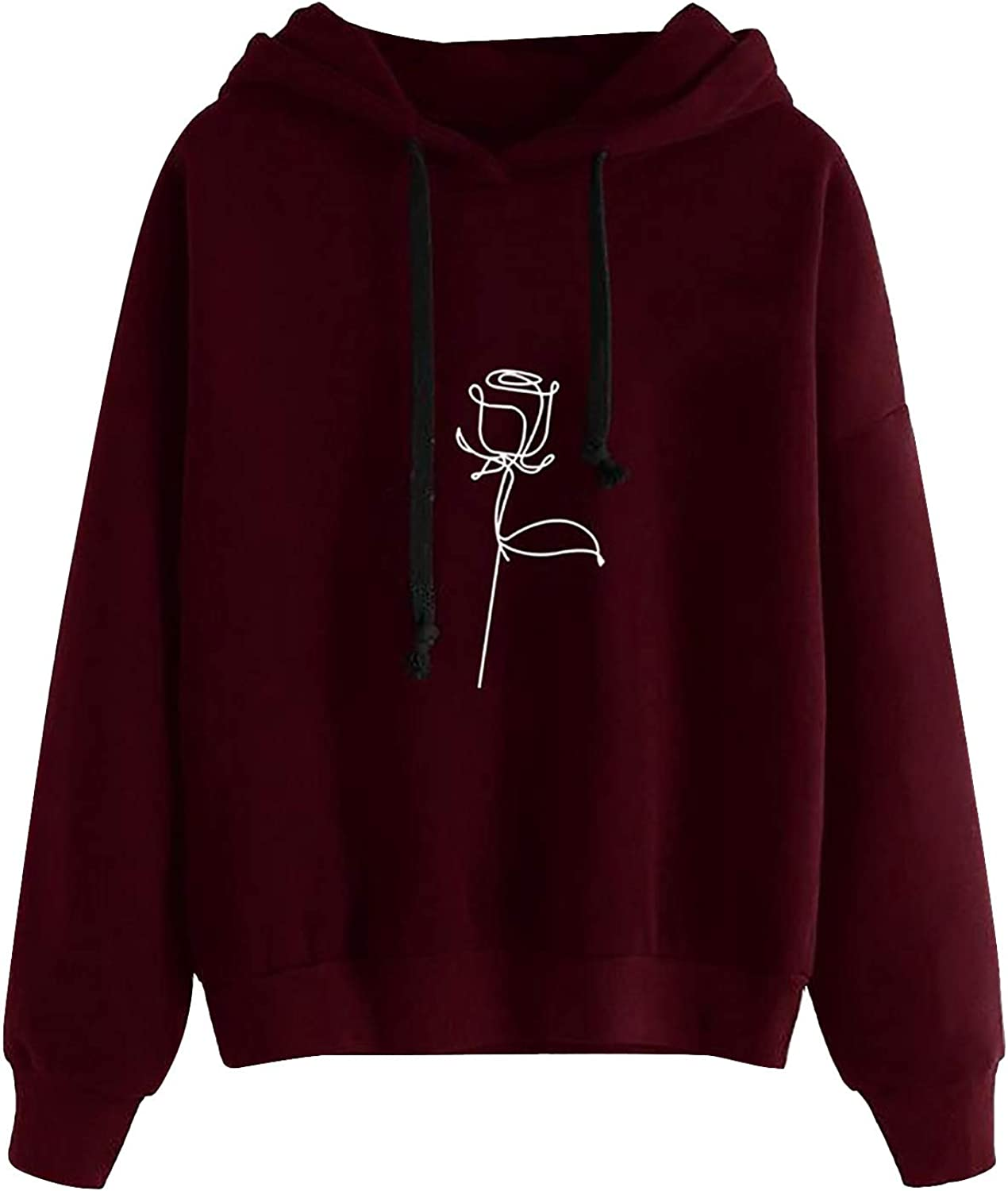 Sweatshirts for Women, Womens Long Sleeve Cute Graphic Hoodie and Sweatshirt Casual Loose Crewneck Pullover Tops