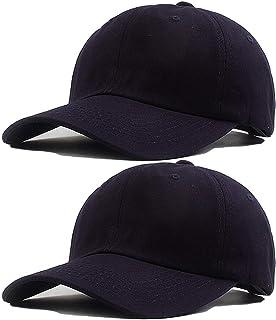 2 Pack Classic dad hat Adjustable Baseball Cap Soft Cotton Sun hat Plain Canvas Men Women