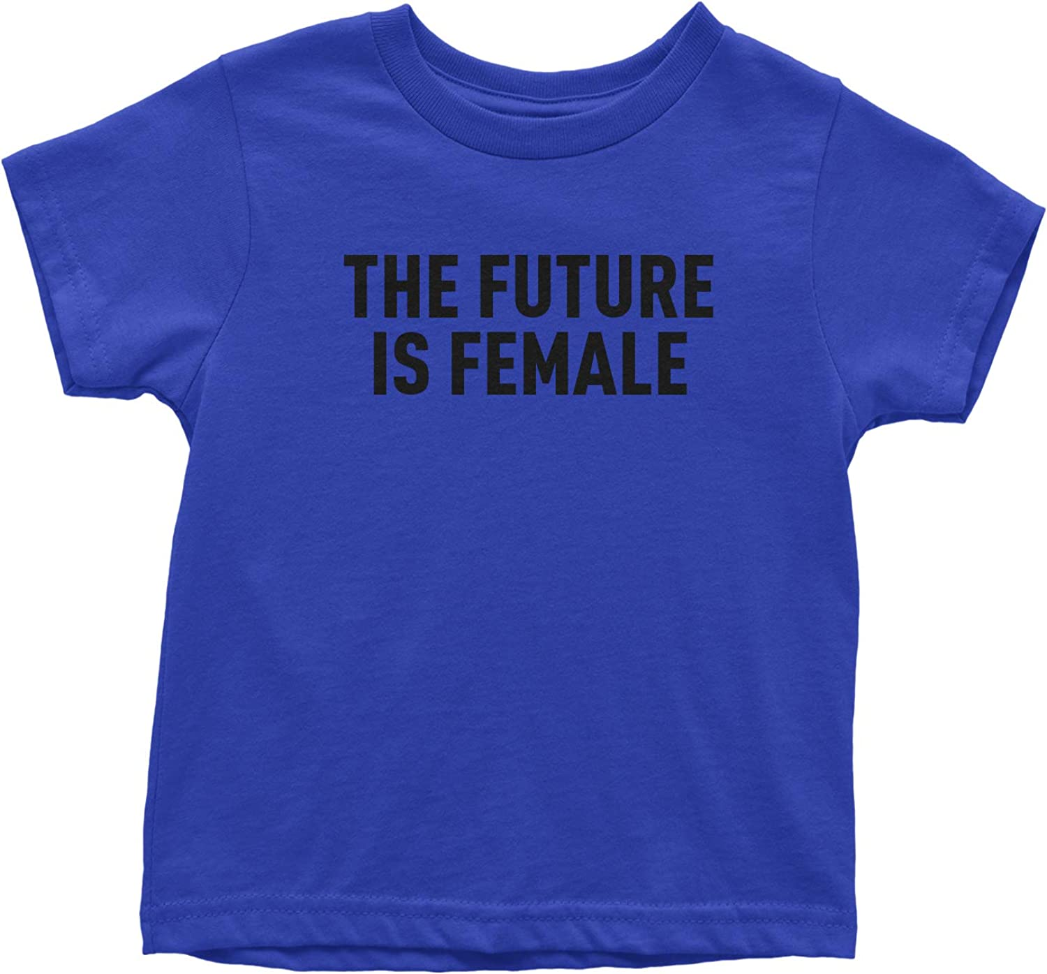 Black Print Toddler T-Shirt Expression Tees The Future is Female Feminism