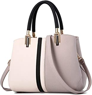 Women's Shoulder Messenger Bag Europe and America Trends Crossover Women's Tote Bag Contrast Crossbody Bag Leather Goods