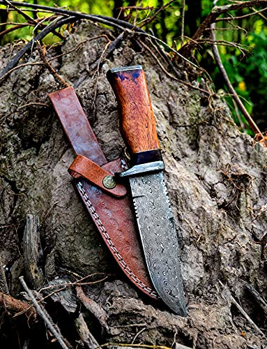 Poshland Knives Handmade Damascus Steel Bowie Knife