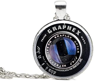 Custom Photo Container Lens Pendant Photographer Traveller Artist Charm Necklace Friendship Jewelry