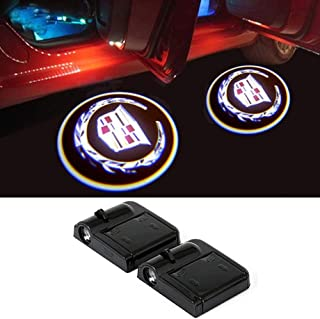 For Cadillac Wireless Car Door Led Welcome Laser Projector,No Drill Type Logo Light for All Cadillac,Escalade, CTS,SRX, BLS, ATS,STS, XTS, SXT, etc.