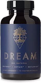 Dream Premium Nighttime Nootropic Supplement | Advanced Natural Brain Nutrition | Promotes Restorative Sleep | Improve Memory | Improve Mood | Repair Brain | 9 Premium Ingredients