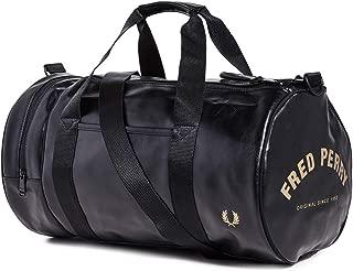 Men's Tonal Pu Barrel Bag, Black, One Size