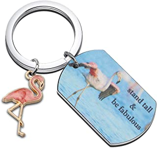 WUSUANED Flamingo Gift Stand Tall Be Fabulous Keychain