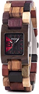 Women's Wood Watch Luxury Brand Quartz Wooden Wristwatches for Ladies