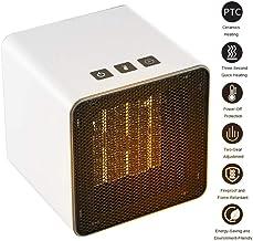 Fdgnb Calentador de Espacio portátil 400W/800W Personal Mini Ventilador Calentador de cerámica pequeño Calentador con termostato & Tip Sobre la protección, Blanco, para el hogar, Oficina, Dormitorio