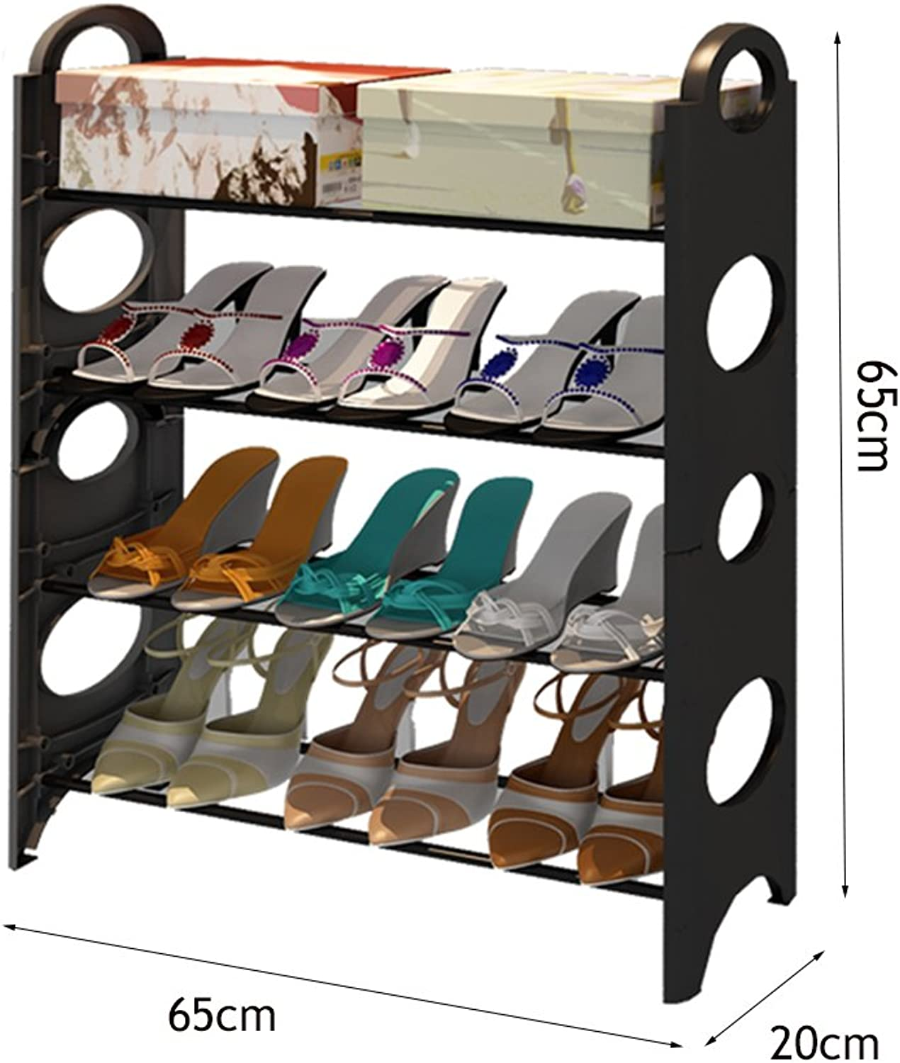 shoes Rack Simple Modern shoes Rack Multilayer Economical Large Capacity Storage Rack Home Living Room Bedroom Thickening Small shoes Simple (Size   65CM)