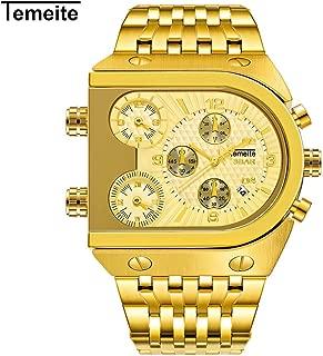Lixada Men Fashion Metal Watch Waterproof Business Quartz Wrist Watch