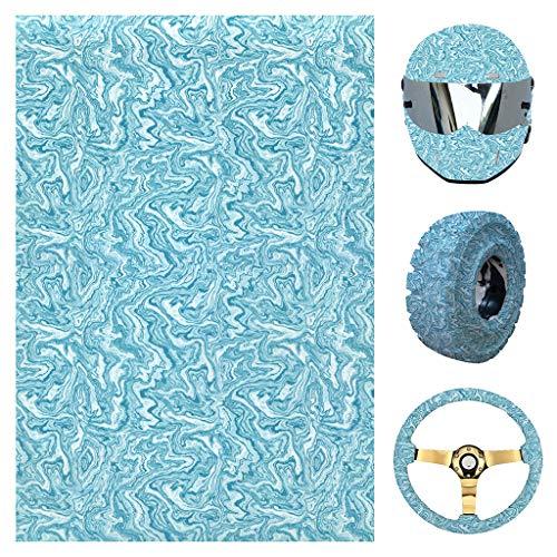 Preisvergleich Produktbild Youliy Wassertransfer-Folie,  schneller Druck,  Hydro-Dip-Folie,  himmelblau,  geeignet für Helm,  Reifen,  Lenkraddekoration S