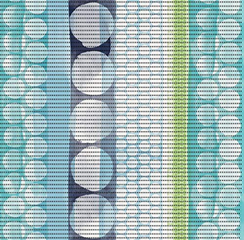 DecoHomeTextil Aqua Mat Bodenbelag Badvorlerger Badematte Vigo Grün Blau Breite 65cm Länge & Muster wählbar 65 x 200 cm