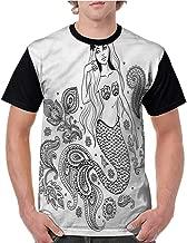 Baseball Tee Shirt,Mermaid,Fantastic Female Character S-XXL Women Short Sleeve T-Shirt