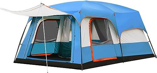 Zhanghongshop Tente de Camping en Plein air Deux Chambres Une Chambre 3-4 Personnes Famille Pluie 8-10 Personnes Seule Tente de Camping Sauvage (Couleur   Orange)