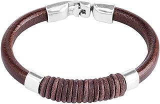 Cinturino da Uno di 50 CAMISA di FUERZ pelle marrone e PUL0610MRH placcato argento