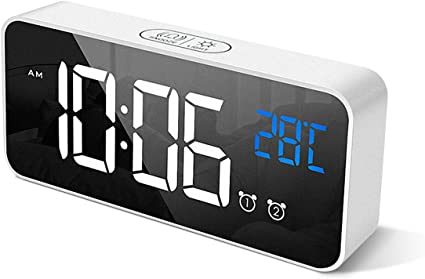 HOMVILLA Reloj Despertador Digital con Pantalla LED de
