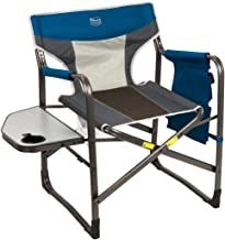 Timber Ridge Director's Chair Oversize Portable Folding Support 300lbs Utility Lightweight for Camping Breathable Mesh Back with Side Storage Bag, Side Table