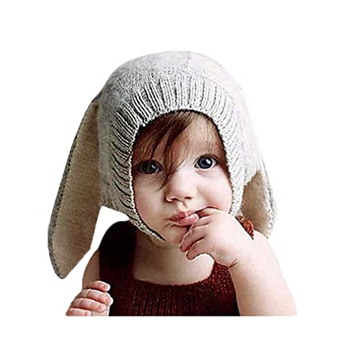 81398a5631c Lalang Baby Boy Girl Knitted Cartoon Bunny Ear Beanie Hat Cap