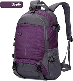 SP-Xhz Mountain Climbing Equipment Outdoor Supplies Backpack Men and Women Lightweight Large Capacity Leisure Practical Mountaineering Bag (Color : Purple, Size : 25L)