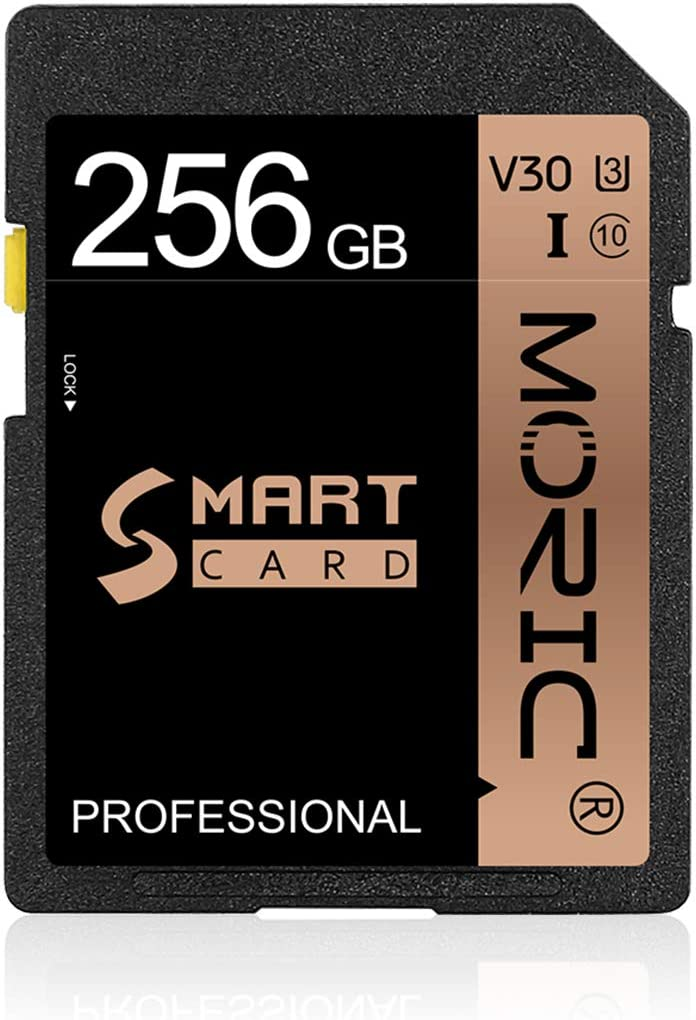 SD Card 256GB Memory Card Fast Speed Security Digital Flash Memory Card Class 10 for Camera,Videographers&Vloggers and Other SD Card Compatible Devices(256GB)