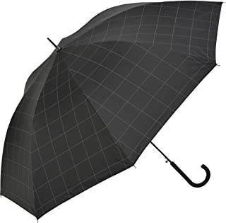 Nifty Colors(ニフティカラーズ) 長傘 遮光ウィンドウペイン耐風ジャンプ ブラック