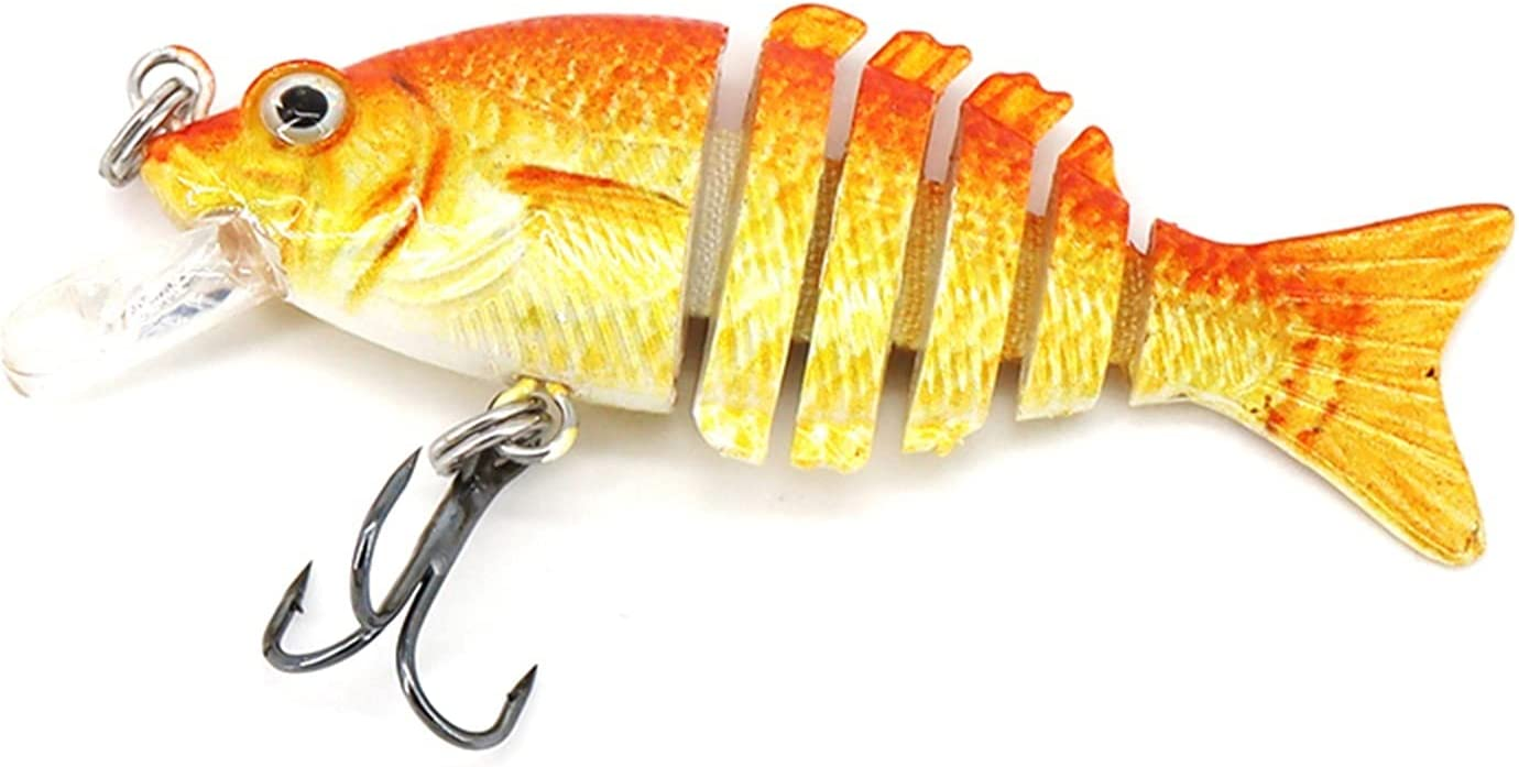 5 ☆ popular XDQ 5PCS Fishing Lure Soft Bait Jointe with Lifelike Hook Popular products Multi