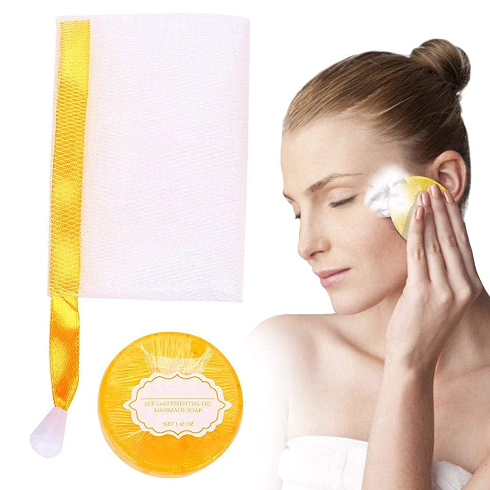 意味五活力手作り石鹸を白くする肌、きれいな顔の手のボディシェーブのための活性化石鹸を明るくする多機能の海藻肌