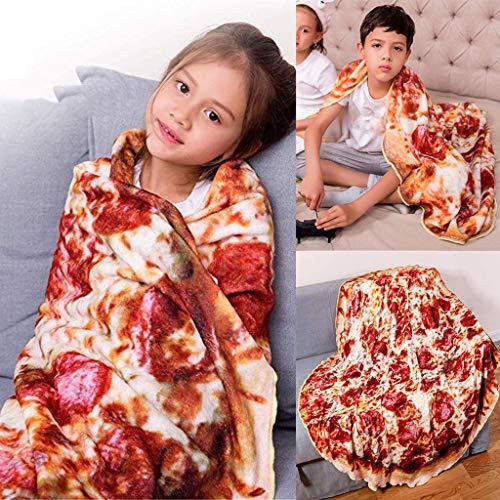 Manta para pizza, manta redonda de franela suave impresa en 3D para niños de franela para el día de San Patricio en multicolor