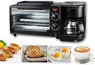 BTSSA Horno eléctrico de sobremesa,Microondas con Grill,Máquina de Desayuno 3 en 1 máquina de café casera Pizza Tartas de Huevo máquina de Pan Frito