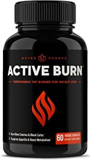 Fat Burner for Women & Men - Thermogenic Weight Loss Supplement with Green Tea Extract & White Kidney Bean - Carb Blocker,...