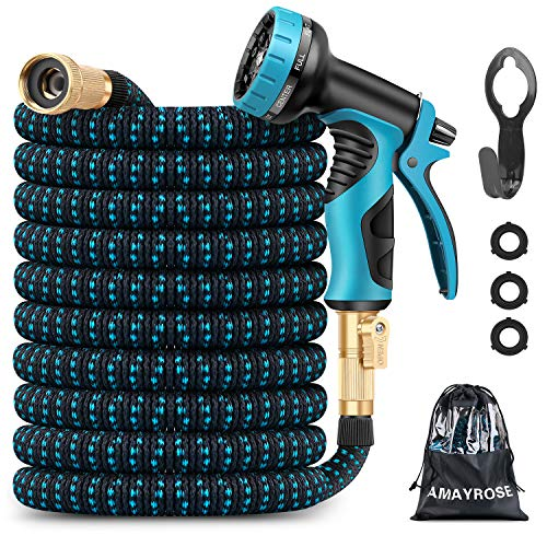 Amayrose Garden Hose Expandable Water Hose with 9...