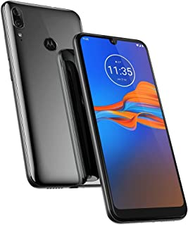"Motorola Moto E6 Plus (32GB, 2GB RAM) 6.1"" Max Vision Screen, 3000mAh Removable Battery, Hotspot, FM Radio, US + Global 4G LTE Dual SIM GSM Factory Unlocked XT2025-1 - International Model (Graphite)"
