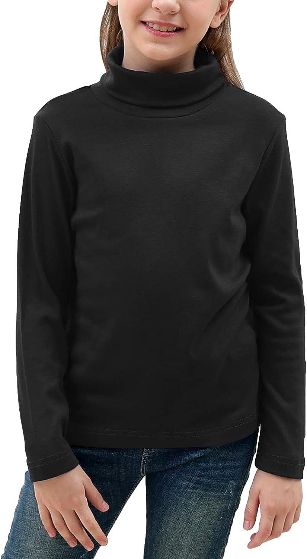 GORLYA Girls Shirt Turtleneck Slim 55% OFF Fit Knit Mock Tu Basic Blouse Sale