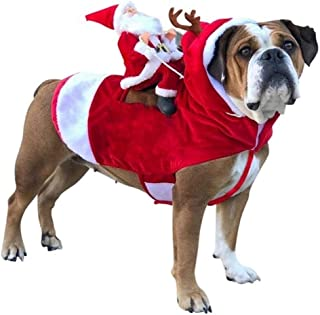 Costumes Small Large Dogs Santa Cosplay Outfit For Christmas Carnival Pet Costumes Apparel Party Dressing Up Clothing (Col...