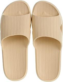 MINISO Women's Comfort Home Flip Flops Bathroom Slippers Thong Open Toe Non Slip (Apricot, 37-38)