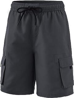 TSLA Boys Swim Trunks, Quick Dry UPF 50+ Beach Board Swim Shorts, Swimsuit Swimwear with Inner Mesh Liner