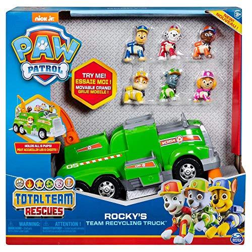 Patrulha Canina Total Team Rock´s Caminhão Reciclagem Com Figura - Sunny 1286