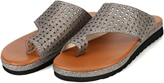 Bunion Corrector Platform Shoes, Women Flip Flop Light Weight Ladys Shoes, Flat Shoes Toe Ring Slides Flip Suitable for Everyday Wear Flops