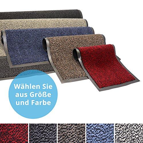 Panorama24 Premium Fußmatte/Sauberlaufmatte für Eingangsbereiche 90x150, Farbe: anthrazit - grau - Schmutzfangmatte in 6 Größen als Türvorleger innen und außen