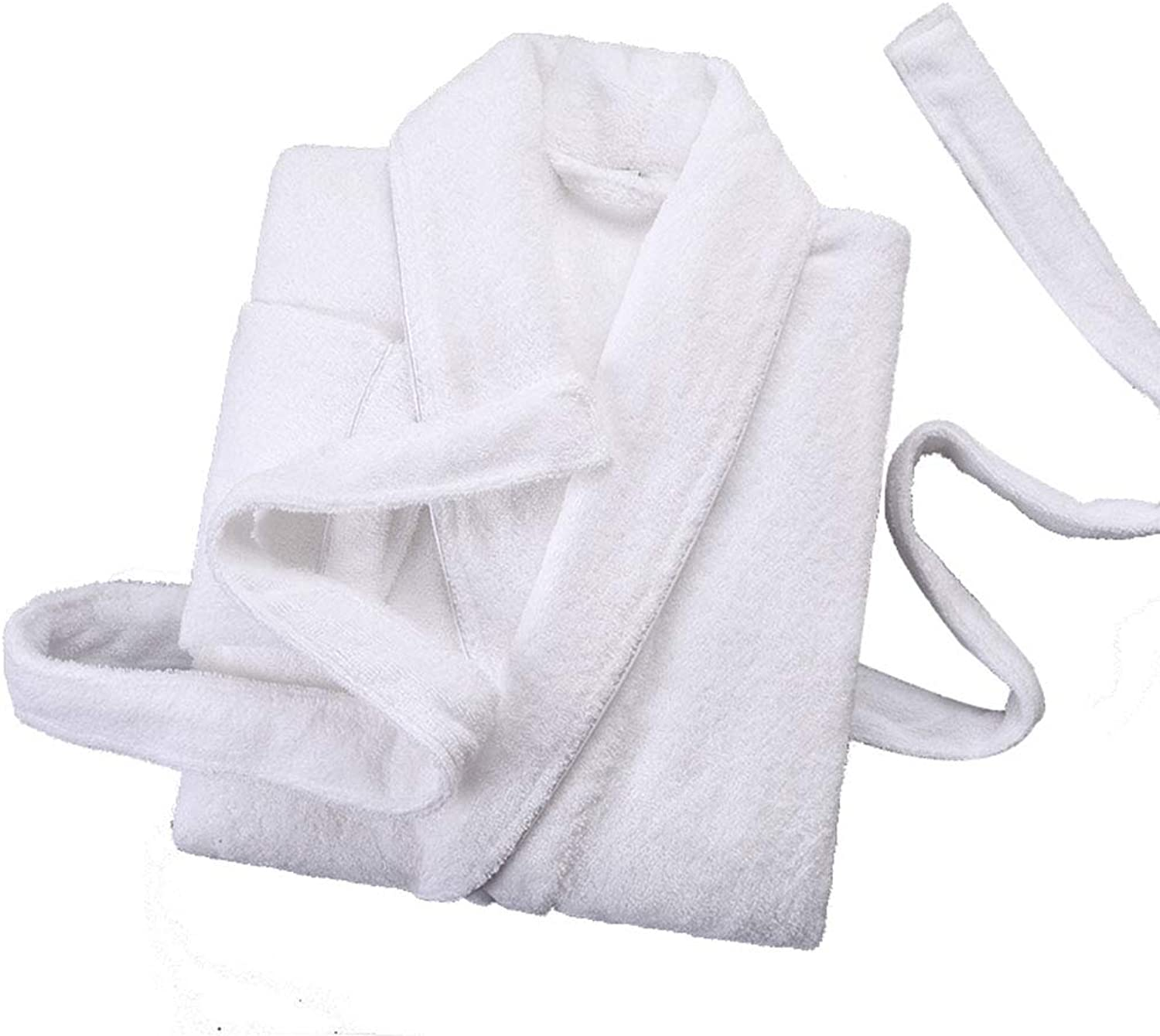 Bathrobe, Womens Mens QuickDrying Towelling Shower Robe, Cotton Lapels Dressing Gowns, Hotel Sauna Coat