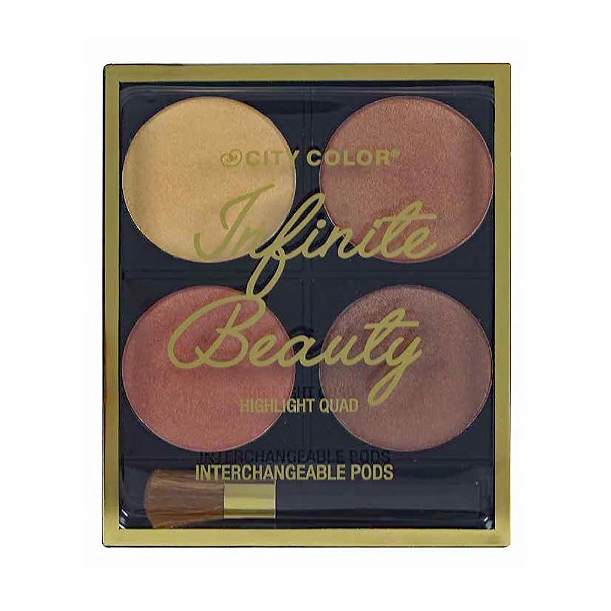 エチケットいう東ティモールCITY COLOR Infinite Beauty Highlight Quads (並行輸入品)