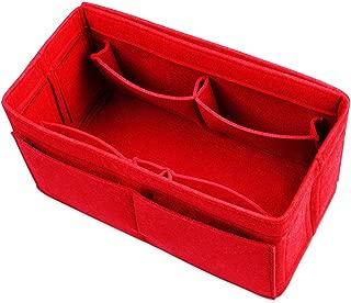 Actater Large Felt Purse Organizer Insert, Multi-Pocket Handbag Shaper, fits Tote Bag Like Speedy or Neverfull (Red)