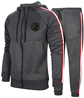 PASOK Men's Casual Tracksuit Set Long Sleeve Full-Zip Running Jogging Athletic Sweat Suits